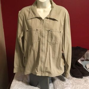 Vintage GAP khaki corduroy zip up jacket medium